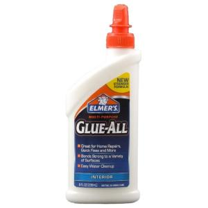 Glue comes in a must-have for items too fragile to nail. (homedepot.com)