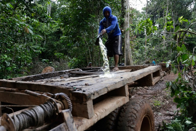Illegal logging in Peru. As much as 80 percent of Peru's timber export derives from illegal logging, according to a World Bank study. Photo: Lunae Parracho / Reuters