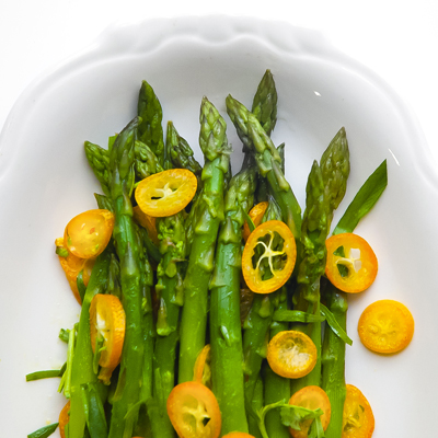 Asparagus with Kumquats and Tarragon