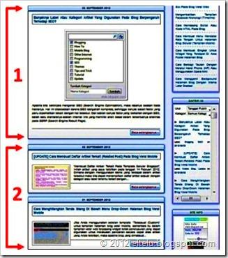 ELTELU - Headline Artikel Pada Beranda Blog Versi Web