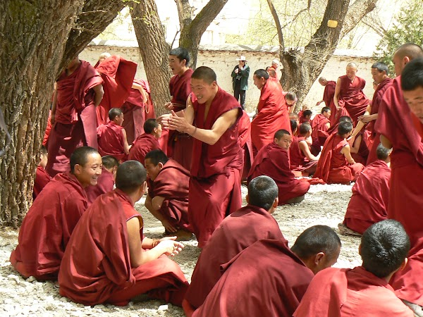 Obiective turistice Tibet: dezbateri la Sera, Lhasa