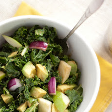 Raw Kale, Apple & Avocado Salad