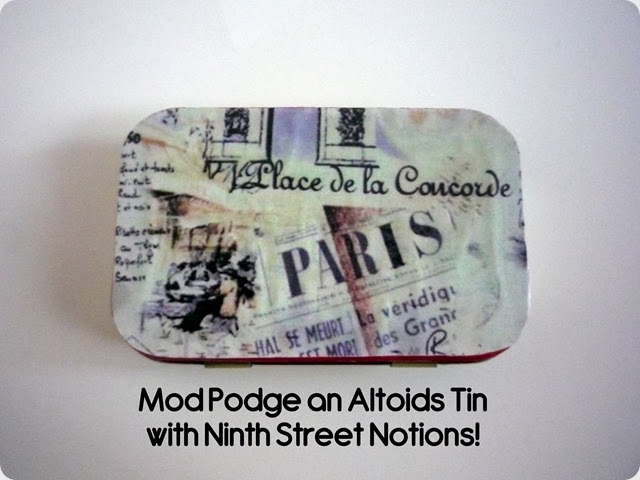Mod Podge an Altoids Tin