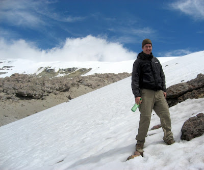 Nevado del Ruiz - at 4800m - here I celebrated my winter this year, for about 30 minutes