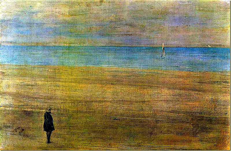 James Abbott McNeill Whistler, Harmony in blue and silver. Trouville, 1865