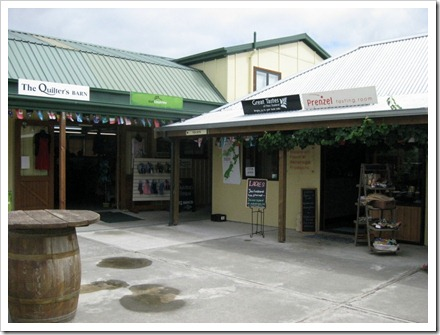 The Vines complex, Blenheim. A group of specialised boutique shops.