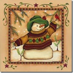 ChristmasSnowmanwithbird
