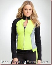 Colorblock Funnel Jacket - BEBE SPORT