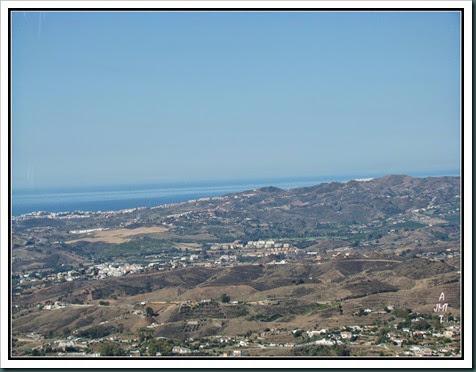 4x4 vue vers Torremolinos et Marbella