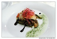 Marinovaná zelenina s kozím sýrem