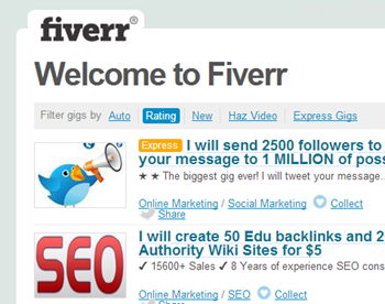 fiverr freelancing advertising