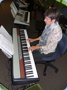 Colleen Kerr playing the Korg SP-250
