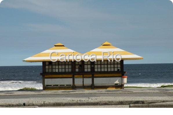 Quiosque padrão da praia da Barra