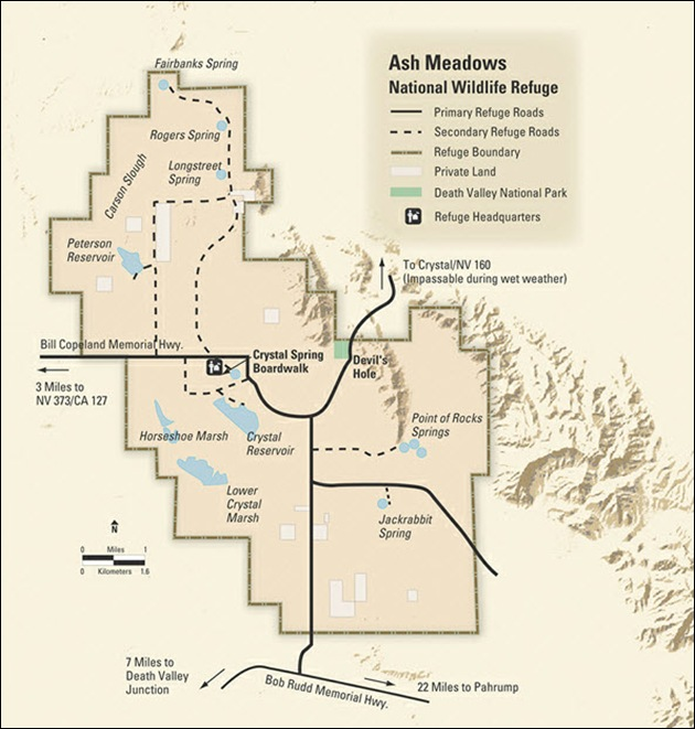 Ash Meadows Map