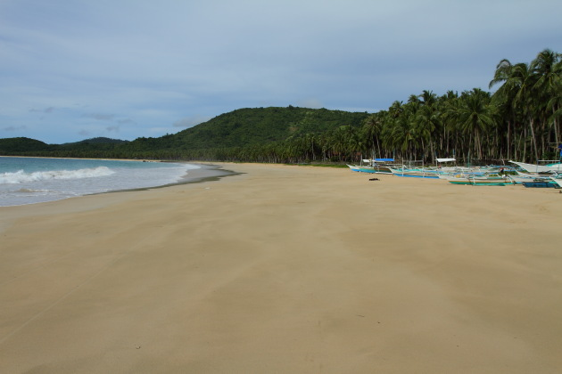 Powdery sands of Nacpan Beach, Philippines
