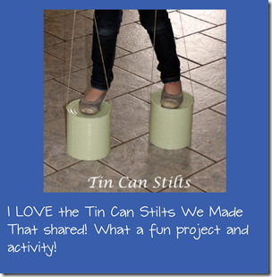 DIY Tin Can Stilts Kids Activities