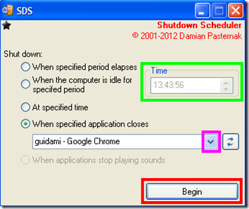 SDS (Shutdown Scheduler)