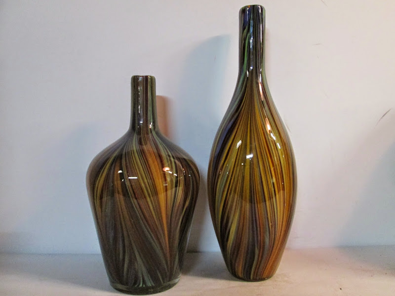 Art Glass Vase Pair