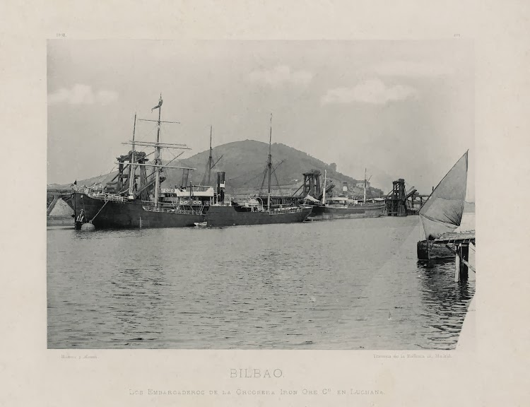 El vapor SETIEMBRE en Luchana. Cargaderos de Orconera Iron Ore. Foto Biblioteca Nacional de España.jpg