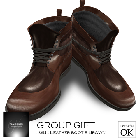 __GB__ Leather Bootie Brown