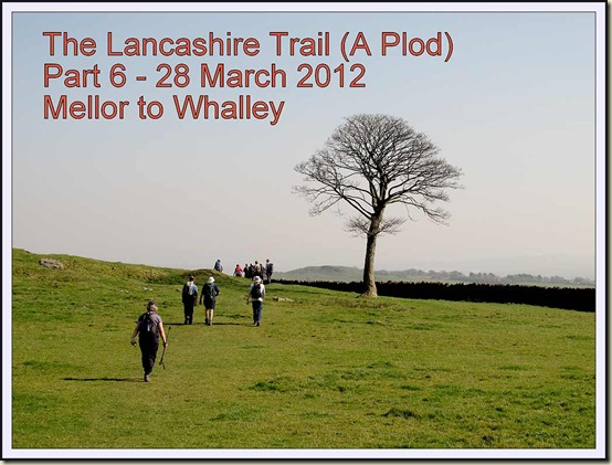 Walkers on the Lancashire Trail near Dean Clough