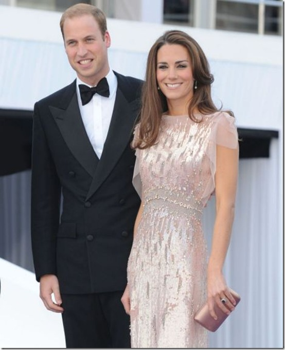 ARK Gala dinner at Kensington Palace, Kate wore a pink dress designed by Jenny Packham