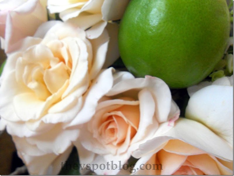 roses, limes, flower, floral, arrangement, wedding