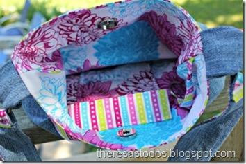 Pretty Flower Purse Lining