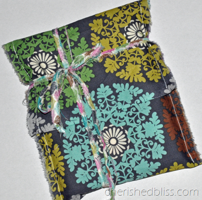 Wrap with fabric