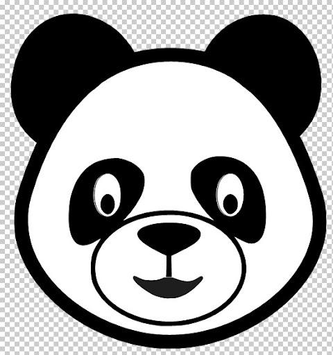 Oso panda para pintar la cara - Imagui