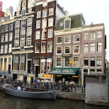 canals in amsterdam in Amsterdam, Noord Holland, Netherlands