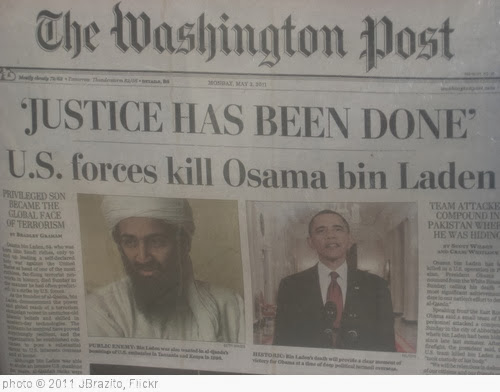 'Osama bin Laden is dead' photo (c) 2011, JBrazito - license: http://creativecommons.org/licenses/by/2.0/