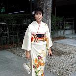 woman in kimono at meiji shrine in Yoyogi, Tokyo, Japan