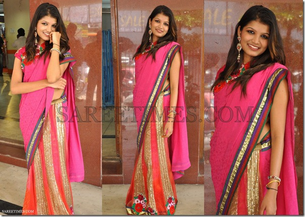 Isha_Agarwal_Pink_Half_and_Half_Saree