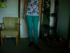 coloured jeans teal pants blue green skinny