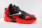 nike lebron 11 gr black red 5 01 New Photos // Nike LeBron XI Miami Heat (616175 001)