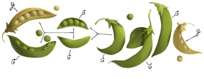 Gregor Mendel's 189th Birthday-Google Logo