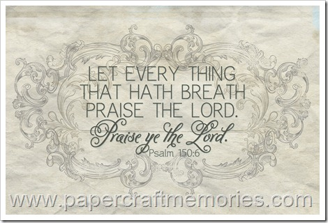 Psalm 150:6 WORDart frameable 4x6