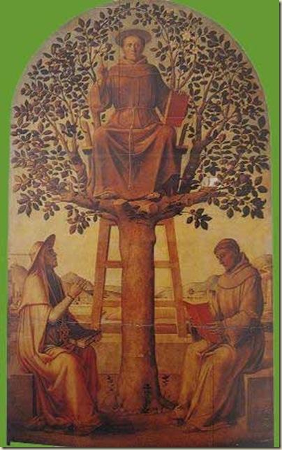 Lazzaro Bastiani, Saint Antoine de Padoue sur un noyer et deux saints