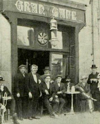 1913-04-28 (p. PyP) Toreros en la Puerta de Hierro