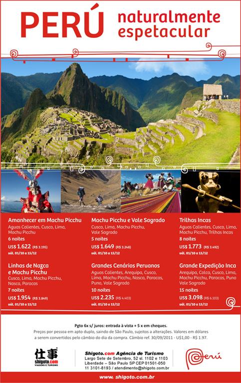 Pacotes de Viagem para Peru