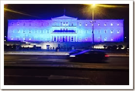 parliament - blue lighting