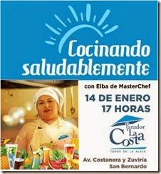 La ganadora del reality MasteChef estará el 14 de enero en el Parador de San Bernardo