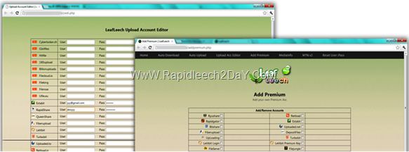 add premium - leafleech upload account editor