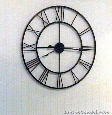 black large roman clock