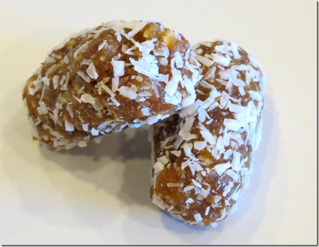 Apricot Date Coconut Logs