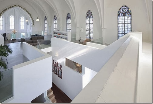 Gothic-Church-Turned-into-White-Contemporary-Home-in-2009-Second-Floor-800x539