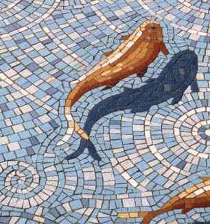 Jacques Pienaar Arts And Mosaics Mosaic D Koi Fish Pond