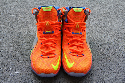 nike lebron 12 gr orange silver yellow 2 04 A Detailed Look at the Orange / Volt Nike LeBron 12 Nerf