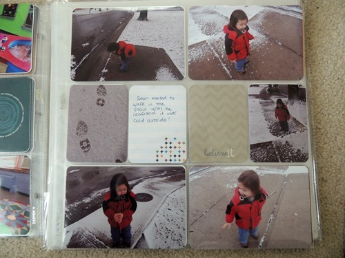 Snowy Day Project Life Page